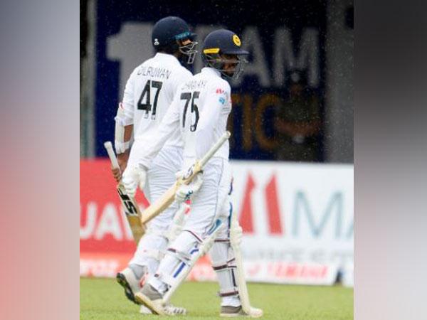 Rain interrupted play on day 2 of second Sri Lanka-New Zealand Test. (Photo/ Sri Lanka Cricket Twitter)