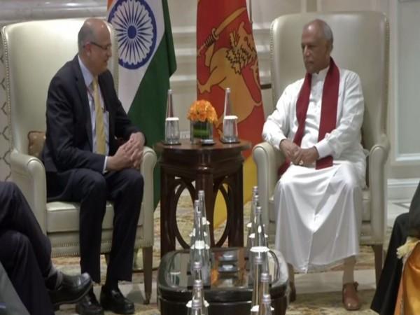 Foreign Secretary Vijay Gokhale and Sri Lankan Foreign Minister Dinesh Gunawardena (photo/ANI)