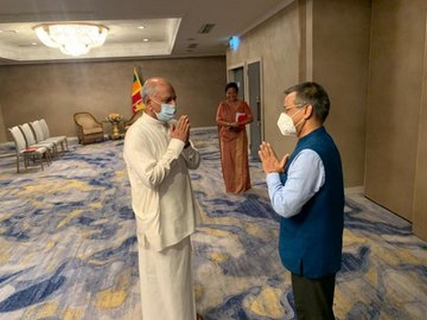 Gopal Baglay called on Minister of Foreign Relations Dinesh Gunawardena (Picture tweeted by Indian High Commission in Sri Lanka)