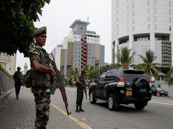 Increased security outside a hotel in Colombo, Sri Lanka, following the Easter Sunday terror attacks. Photo/Reuters