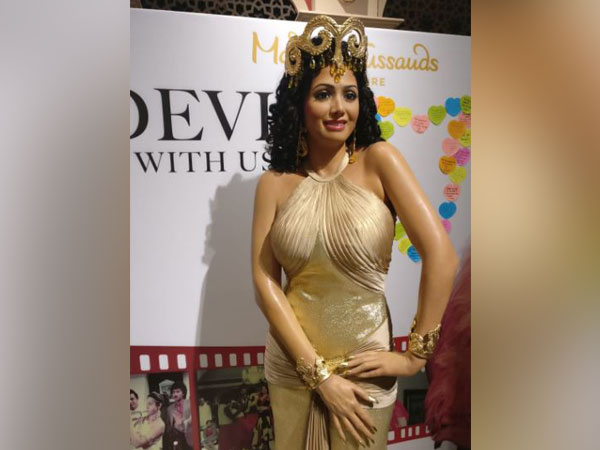 Sridevi's wax figure at Madame Tussauds Singapore, Picture courtesy: Twitter