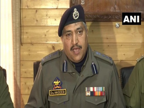 Haseeb Mughal, SSP Srinagar addressing a press conference on Friday. Photo/ANI