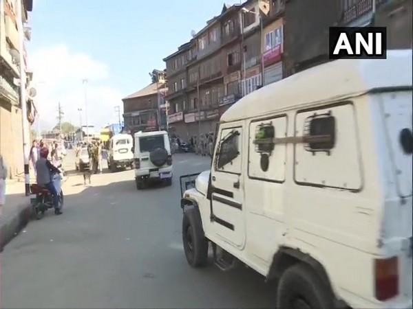 Visuals of the spot in Srinagar on Saturday.