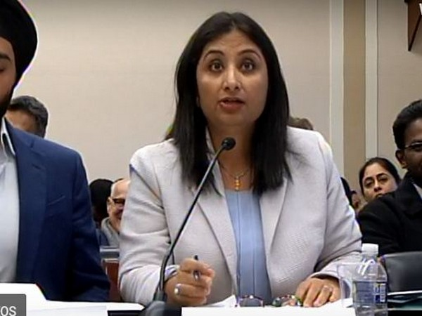 Kashmiri columnist and political commentator Sunanda Vashisht speaking at Congressional hearing on Human Rights organised by Tom Lantos HR Commission in Washington DC on Thursday.