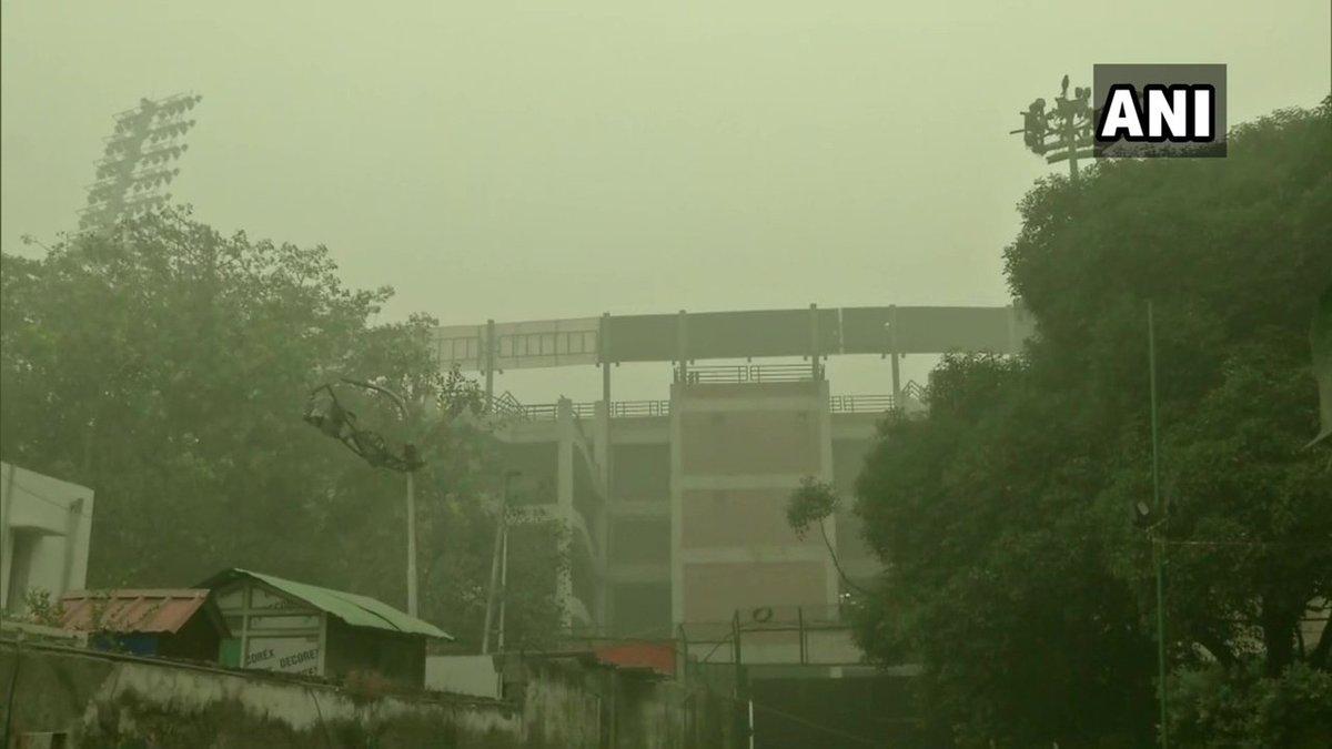 Arun Jaitley Stadium on Sunday where the first T20I between India and Bangladesh will be played. (Photo/ANI)