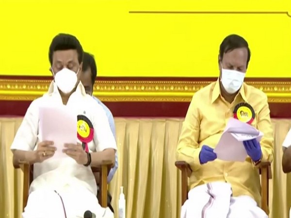 DMK chief MK Stalin (left)