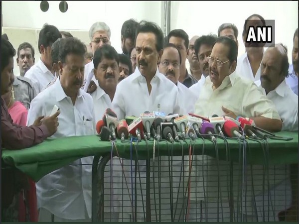 MK Stalin speaking to reporters in Chennai on Friday (Photo/ANI)