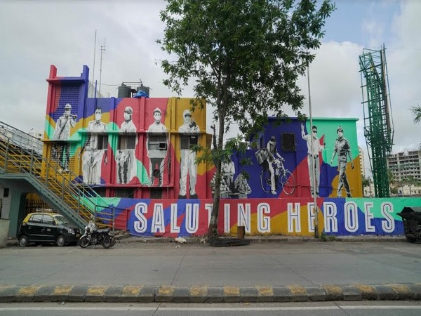 Asian Paints & St+art India salute frontline workers with murals at Mahim