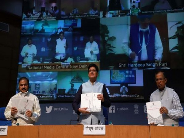 Minister of Commerce and Industry Piyush Goyal (centre) at the virtual felicitation ceremony on Friday