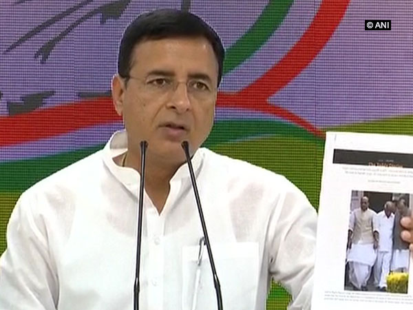 Congress Spokesperson Randeep Singh Surjewala addressing press conference in New Delhi on Friday