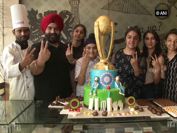 Fans cheers India by making a 20kg World Cup-theme cake