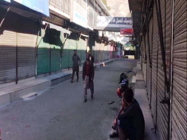 Visuals of the shutter-down protest called by traders in PoK on Tuesday. Photo/ANI