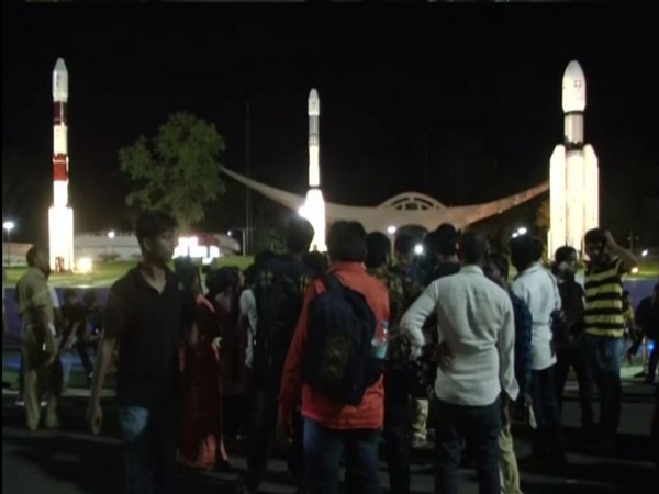 Students at Satish Dhawan Space Centre in Andhra Pradesh to see the launch of Chandrayaan-2. Photo/ANI