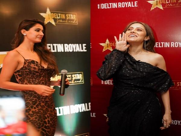 Disha Patani and Nushrratt Bharuccha at 'Deltin Star Weekend'