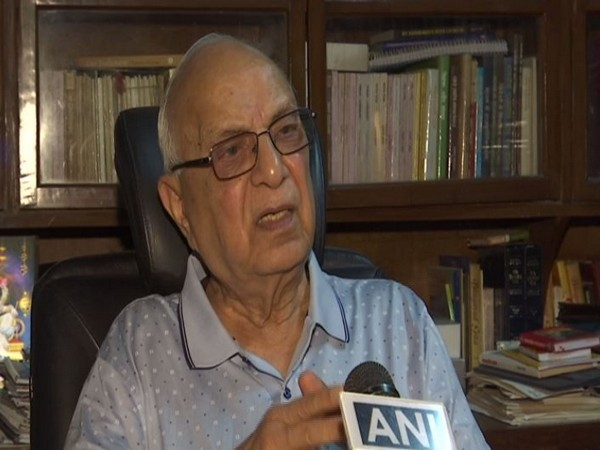 Constitution expert Subhash Kashyap in conversation with ANI on Monday. Photo/ANI