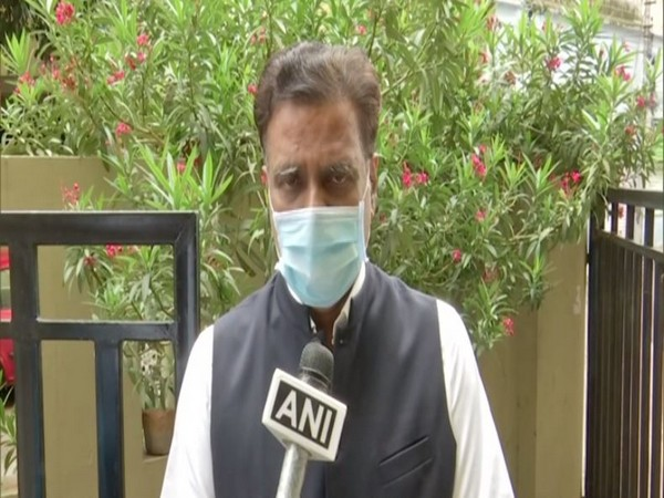 NV Subhash, Telangana BJP official spokesperson and grandson of PV Narasimha Rao speaking to ANI on Thursday. (ANI)