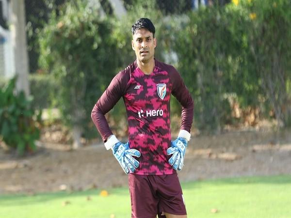 India men's team goalkeeper Subhasish Roy Chowdhury (Image: AIFF)