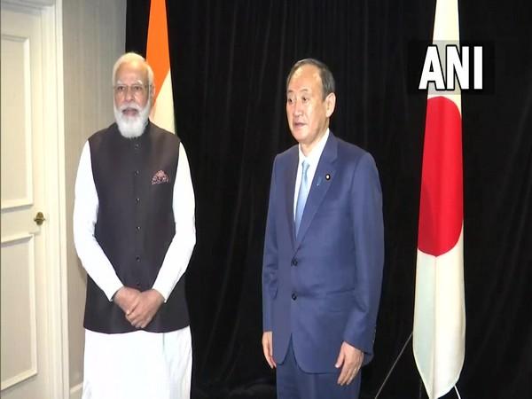 Prime Minister Narendra Modi and Japanese counterpart Yoshihide Suga