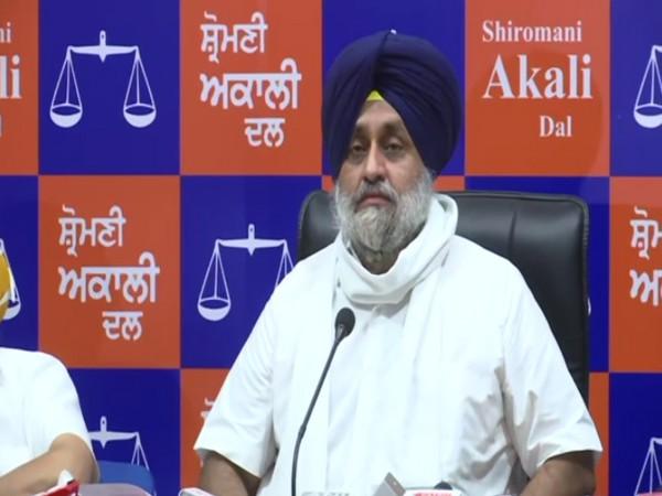 Shiromani Akali Dal chief Sukhbir Singh Badal. (Photo/ANI)