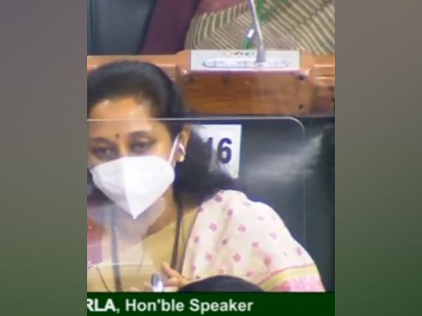 NCP leader Supriya Sule speaking during Lok Sabha on Monday.