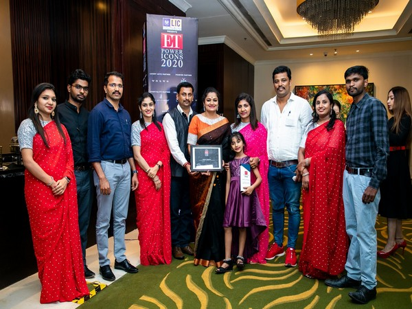 Sunitha Manjunath and her team at Sumanaa Foundation after receiving the prestigious ET Power Icons Award
