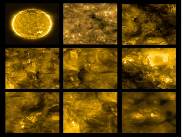 First views of the Sun obtained with Solar Orbitor's EUI on 30th May 2020, revealing the omnipresent miniature eruptions dubbed 'campfires' (Image credit: The European Space Agency)
