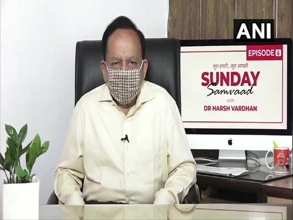 Union Health Minister during his Sunday Samvaad speaking on the outbreak of coronavirus.