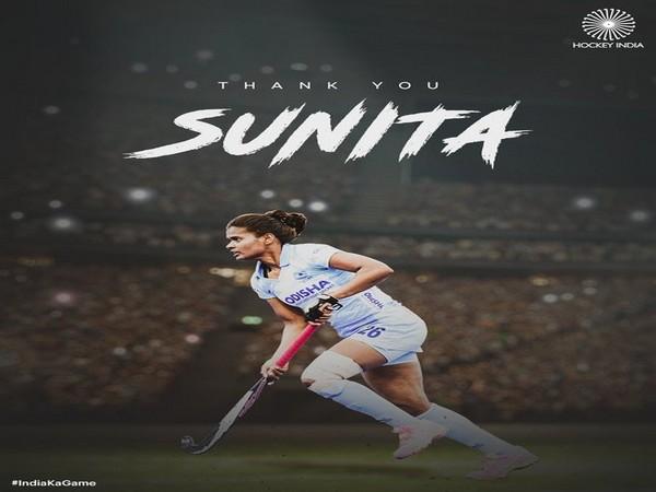 Indian women's hockey team defender Sunita Lakra (Phot/Hockey India Twitter)