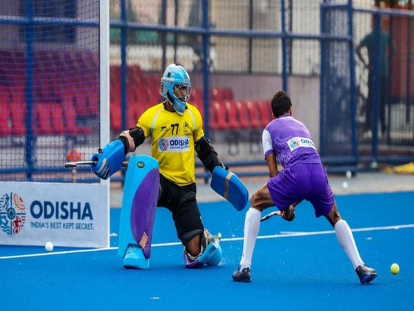 Indian goalkeeper Suraj Karkera (Photo/Hockey India Twitter)