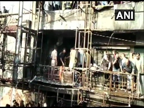 The fire-hit building in Surat