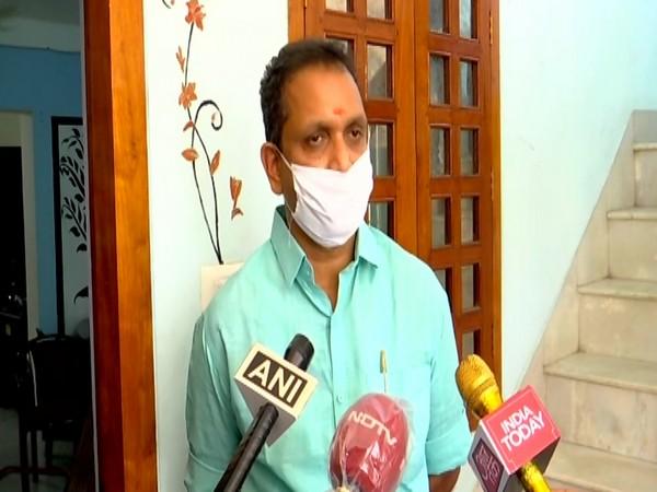 BJP Kerala chief K Surendran speaking to ANI in Thiruvananthapuram on Thursday. Photo/ANI