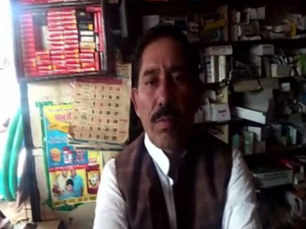 Congress MLA from Pohari Suresh Rathkheda talking to reporters on Wednesday