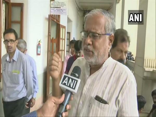 BJP MLA Suresh Kumar speaking to ANI from Vidhan Soudha in Bengaluru on Monday. (Photo/ANI)