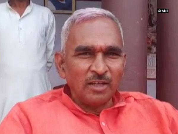 BJP MLA Surendra Narayan Singh speaking to ANI on Sunday in Ballia, Uttar Pradesh. Photo/ANI