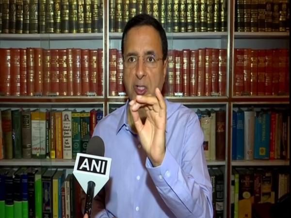 Congress spokesperson Randeep Singh Surjewala speaking to ANI in New Delhi on Tuesday. Photo/ANI