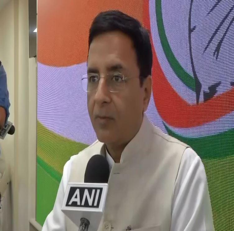 Congress spokesperson Randeep Singh Surjewala speaking to ANI on Saturday.