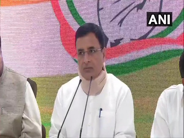 Congress spokesperson Randeep Singh Surjewala speaking to reporters in New Delhi on Saturday.