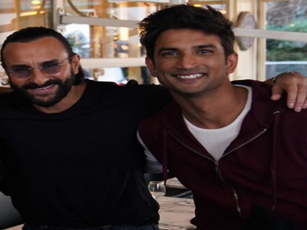 Actor Saif Ali Khan with late Bollywood actor Sushant Singh Rajput (Image Source: Instagram)