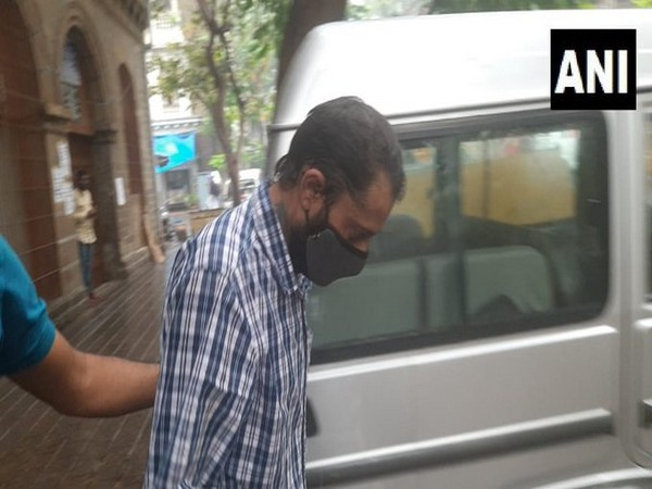 Reigel Mahakal being taken out of the Narcotics Control Bureau (NCB) office for medical examination on Friday.