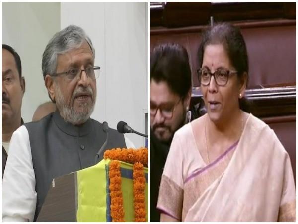 Bihar deputy chief minister Sushil Modi (left) replaces Union Finance Minister Nirmala Sitharaman as head of GoM on IGST