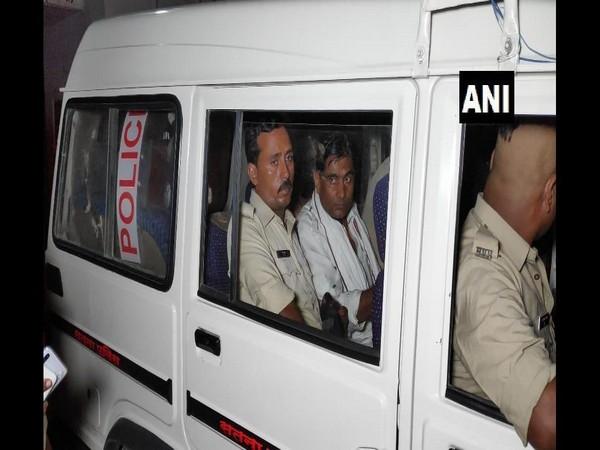 BJP Panchayat President Ram Sushil Patel arrested by police. Photo/ANI