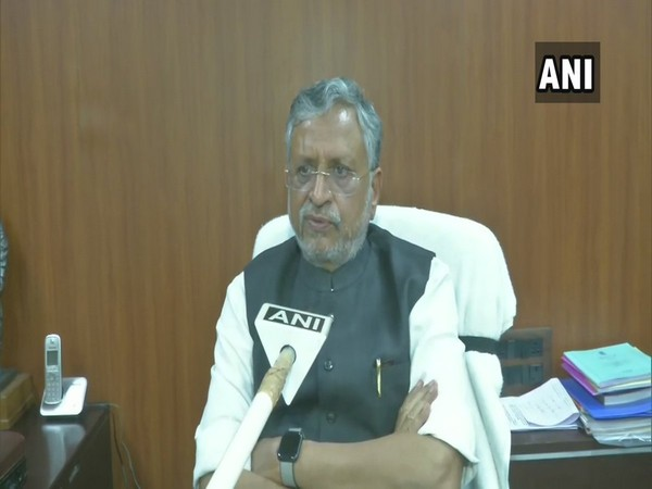 Sushil Kumar Modi speaking to ANI in Patna on Friday.