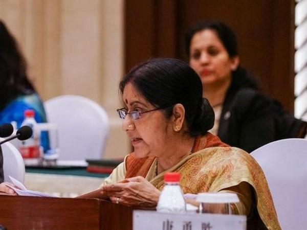Former EAM Sushma Swaraj. File photo/ANI