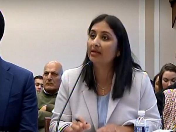 Kashmiri columnist and political commentator Sunanda Vashisht addressing a Congressional hearing on Human Rights