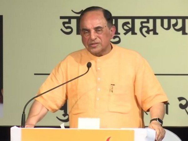 BJP leader Subramanian Swamy speaking at an event in Mumbai on Wednesday. Photo/ANI