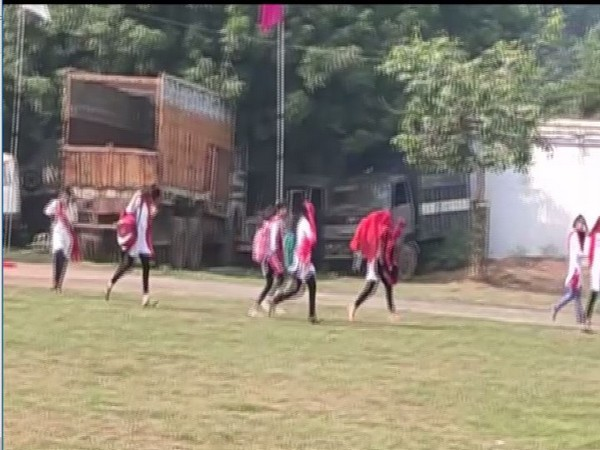 Students were seen running away to save themselves from the attack of bees. Photo/ANI