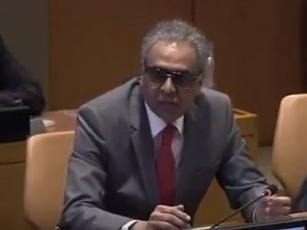 Indian envoy Syed Akbaruddin addressing a panel gathered for the commemoration of the UN Day for the South-South cooperation (Picture Credits: Syed Akbaruddin/Twitter)