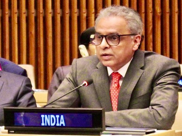 India's Permanent Representative to the UN Syed Akbaruddin speaking at a special event at the UN in New York on Tuesday.