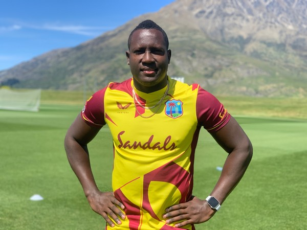 All-rounder Rovman Powell in the new T20I jersey (Photo/ Cricket West Indies)