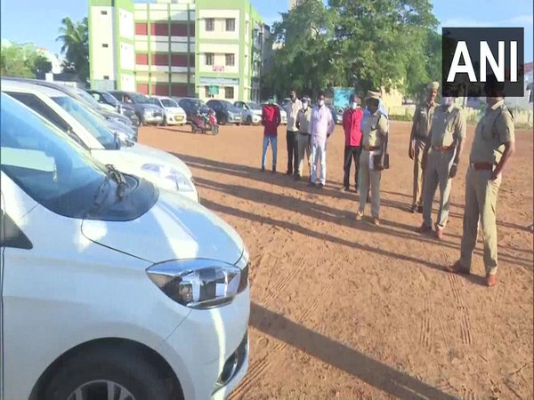 A total of 22 vehicles have been seized by the police in Tamil Nadu's Rameswaram. (Photo/ANI)